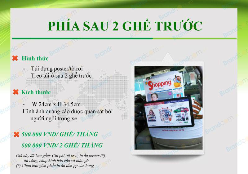 Bảng giá quảng cáo trên taxi Mai Linh