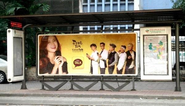Quảng cáo trạm xe buýt nơi tiếp thị lý tưởng