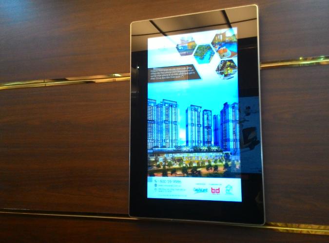 Báo giá quảng cáo Poster Frame thang máy ở HCM