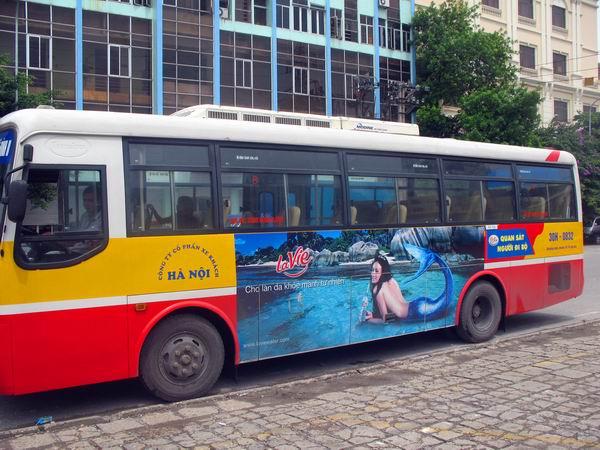 Quảng cáo xe bus hiệu quả tại Hà Nội