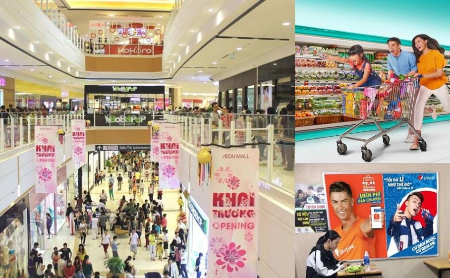 Quảng cáo trong siêu thị và trung tâm thương mại